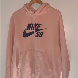 Nike sweater, pink with navy logo